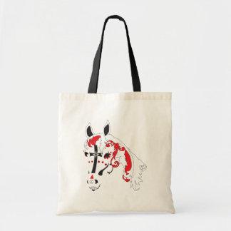 sugar skull horse tote bag