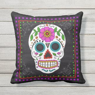 Sugar Skull I Folk Art Pillow