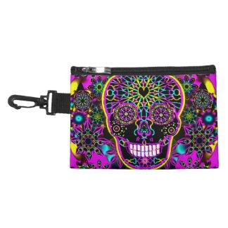 Sugar Skull in Neon Pink Accessories Bag