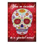 """Sugar Skull Invitation 5"""" X 7"""" Invitation Card"""