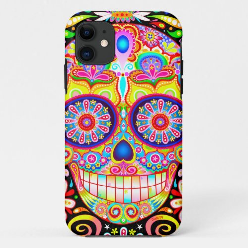 Sugar Skull iPhone 11 case Phone Case