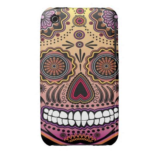 sugar skull iPhone 3 Case-Mate cases
