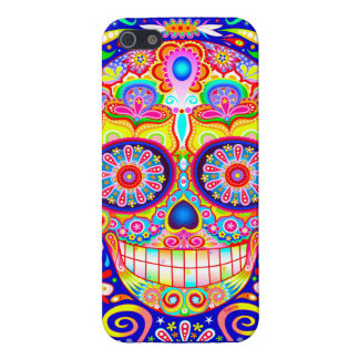 Sugar Skull iPhone 5/5S Case by Case Savvy