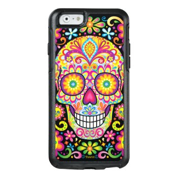 Sugar Skull Iphone 6/6s Case - Day Of The Dead Art by thaneeyamcardle at Zazzle
