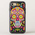 Sugar Skull Iphone 6/6s - Day Of The Dead Art Otterbox Symmetry Iphone 7 Case at Zazzle