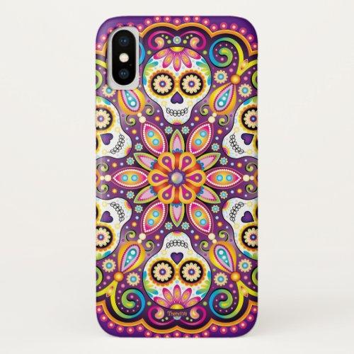 Sugar Skull iPhone Case - Sugar Skulls Mandala Art Phone Case