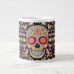 Sugar Skull Jumbo Mug - Day Of The Dead Art at Zazzle