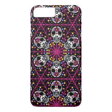 Halloween Themed Sugar skull Kaleidoscope iPhone case