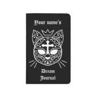 Sugar skull kitty cat with your name cute journal