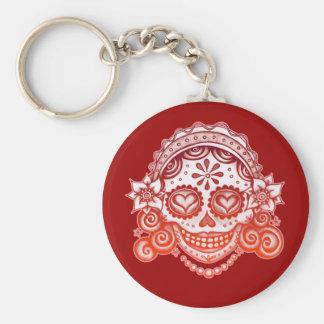 Sugar Skull Lady Keychain - La Catrina