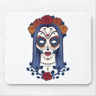 Sugar Skull Lady Mouse Pad