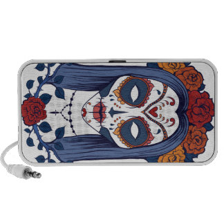 Sugar Skull Lady Laptop Speakers
