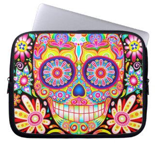 Sugar Skull Laptop Sleeve - Day of the Dead Art