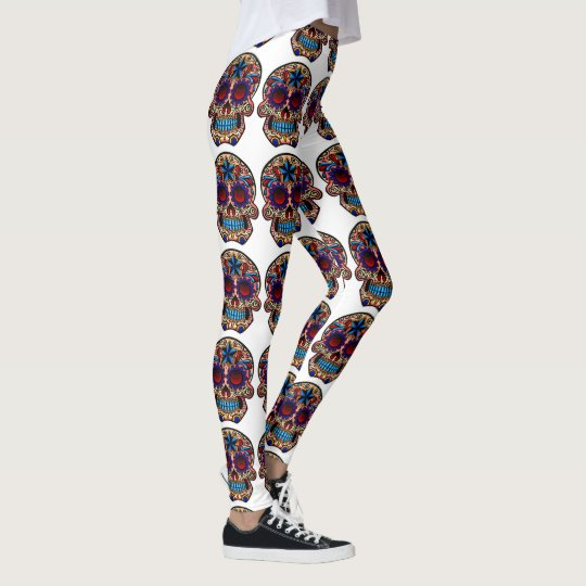 sugar skull yoga pants