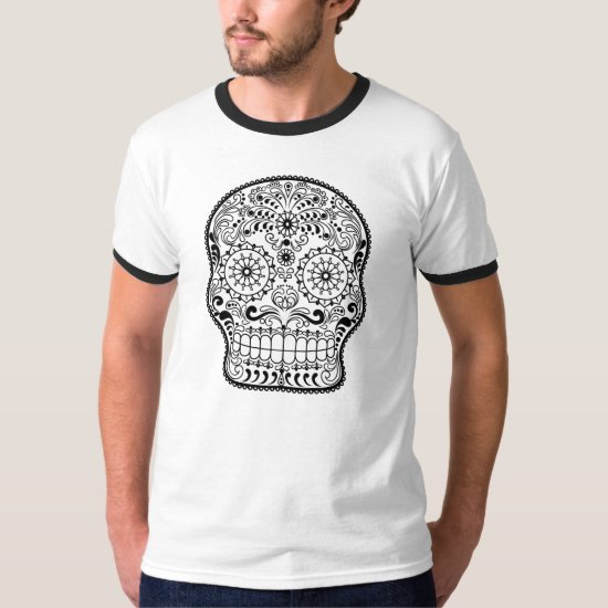 Sugar Skull Line Art, Day of the Dead, T-shirt