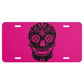 Sugar Skull Liscence Plate