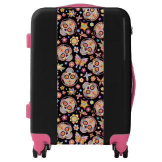 Sugar Skull Luggage - Day of the Dead Art Luggage