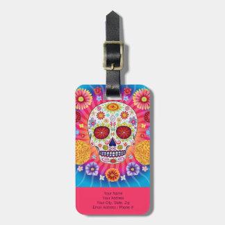 Sugar Skull Luggage Tag - Customize it