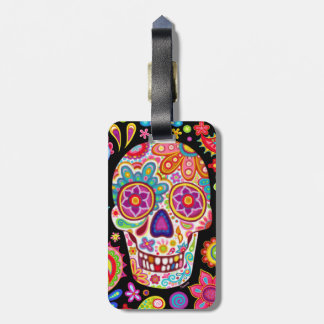 Sugar Skull Luggage Tag - Day of the Dead