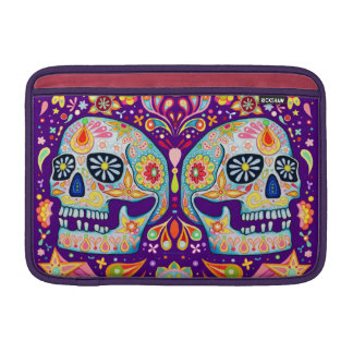 Sugar Skull Macbook Air Sleeve Day of the Dead