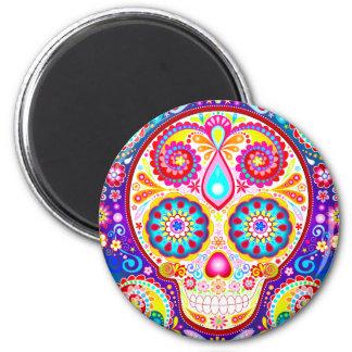 Sugar Skull Magnet - Day of the Dead Art