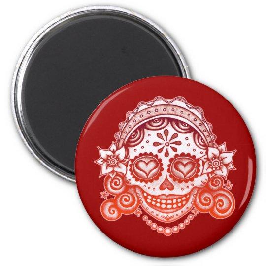 Sugar Skull Magnet - La Catrina