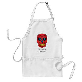 Sugar Skull Man Adult Apron