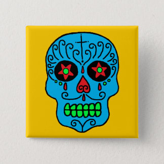 Sugar Skull Man Pinback Button