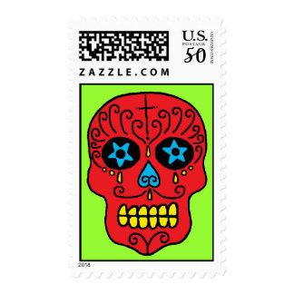 Sugar Skull Man Postage