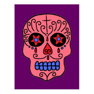 Sugar Skull Man Post Card