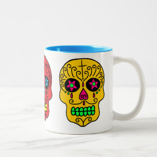 Sugar Skull Man Two-Tone Coffee Mug