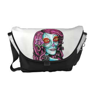 Sugar Skull Courier Bags