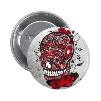 Sugar Skull Mexican Calveras Illustration Pins