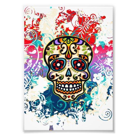 Sugar Skull, Mexico, Dias de los Muertos Photo Print