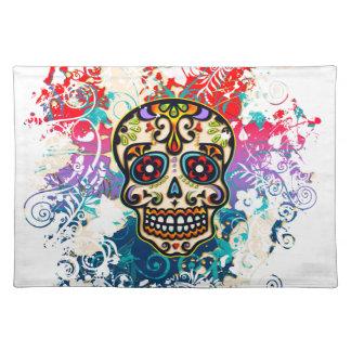 Sugar Skull, Mexico, Dias de los Muertos Placemat
