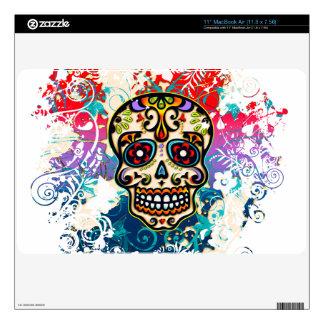 Sugar Skull Mexico Dias de los Muertos Skins For MacBook