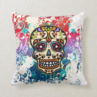 Sugar Skull, Mexico, Dias de los Muertos Throw Pillow