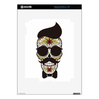 Sugar Skull modern cool design Decal For The iPad 2