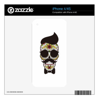 Sugar Skull modern cool design Skins For The iPhone 4S