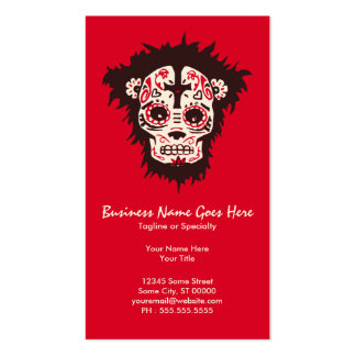sugar skull monkey business card