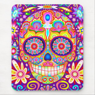 Sugar Skull Mousepad - Day of the Dead Art