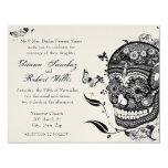 Sugar Skull Muertes on Gold Metallic Paper Personalized Invitation