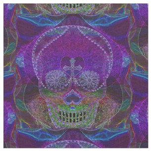 8209888e5199b Sugar Skull Neon Pink Fabric