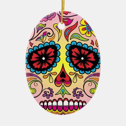 Sugar Skull Christmas Tree Ornament