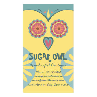 Sugar Skull Owl Double-Sided Standard Business Cards (Pack Of 100)