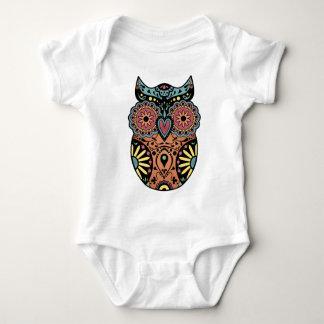 Sugar Skull Owl Color Infant Creeper
