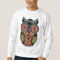 Sugar Skull Owl Color Sweatshirt