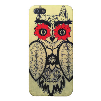 Sugar Skull Owl Cover For iPhone 5/5S
