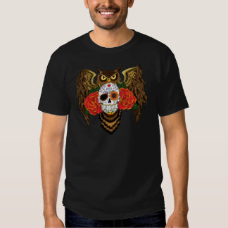 Sugar Skull Owl T Shirt