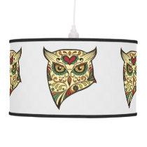 Sugar Skull Owl - Tattoo Design Ceiling Lamp